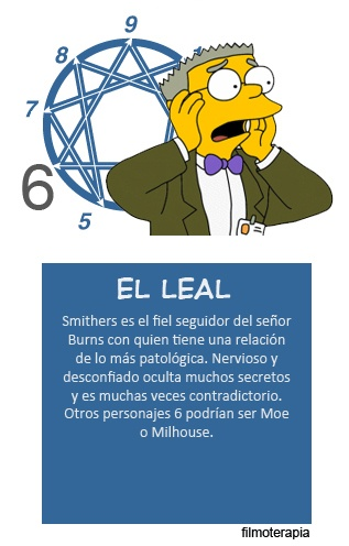 Los Simpsons - Smithers (eneagrama seis)