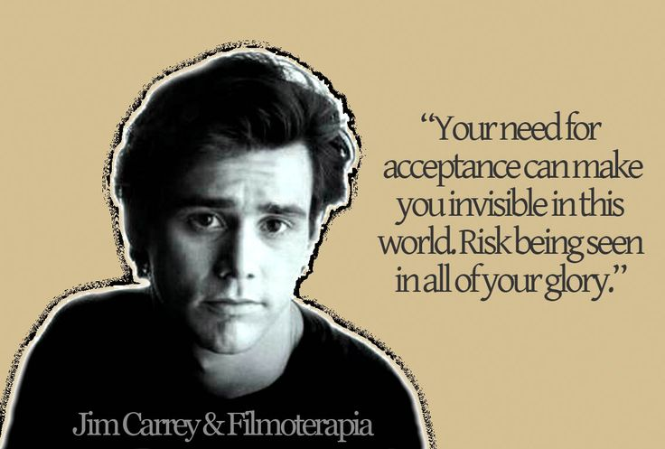 Jim Carrey - Your need for acceptance